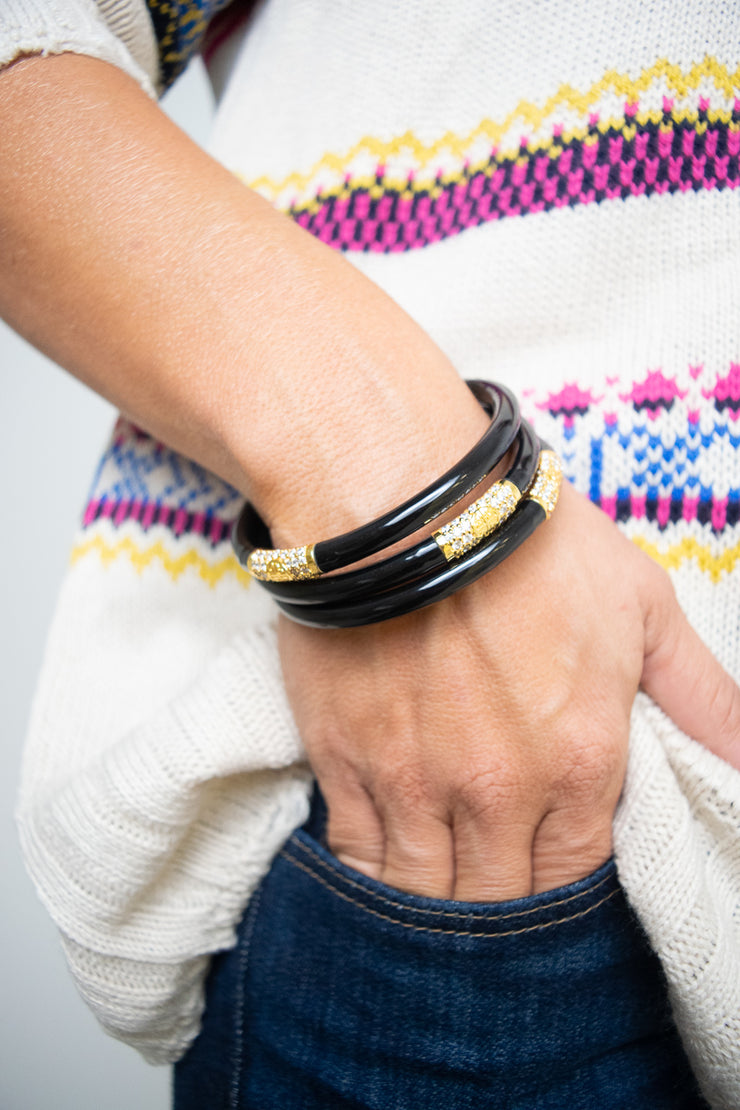 Budha Girl Bracelet - Black & Gold