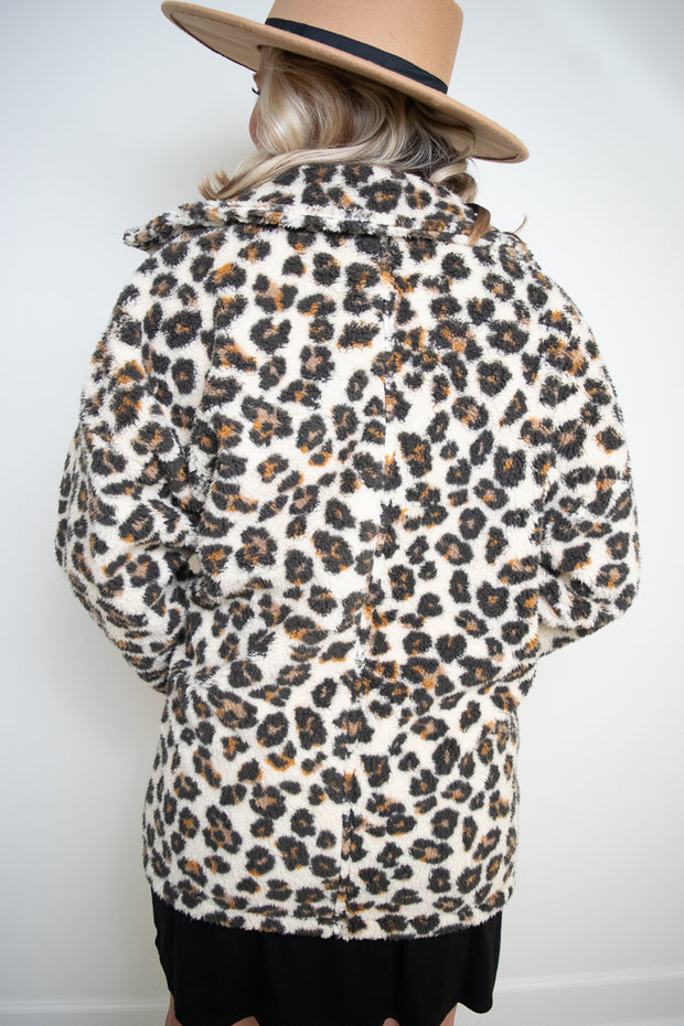Leopard Sherpa Coat | Z Supply