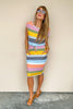 Beachside Multi Stripe Dress
