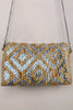Metallic Aztec Jute Clutch