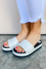 Prato Platform Slide On - White