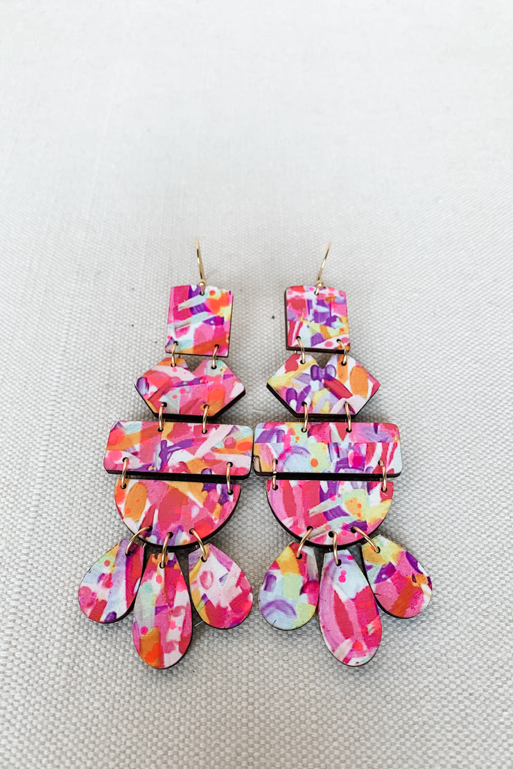 Belle Earring - Pink Yellow