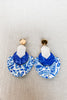 Renee Earring - Blue White