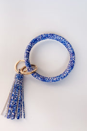 Blue and White Keyring | Audra Style
