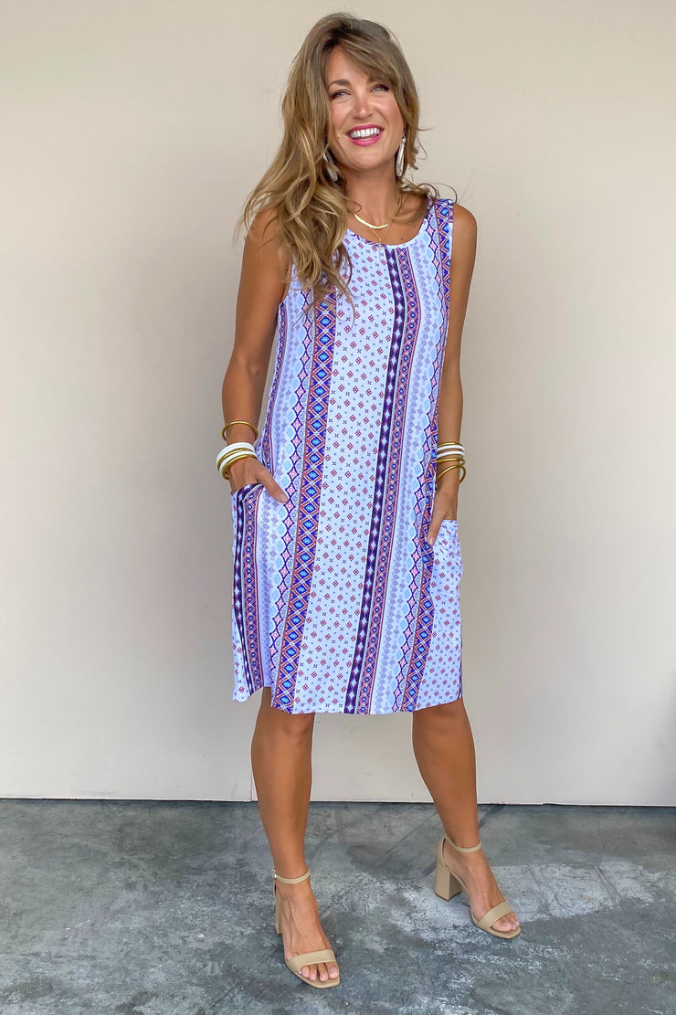 Hearing You Halter Dress | Tribal - FINAL SALE