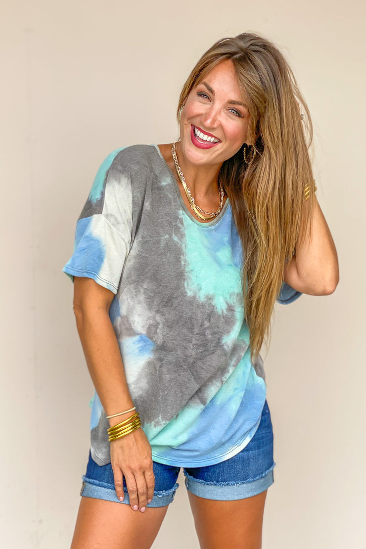 Keep Up The Tie Dye Top - FINAL SALE