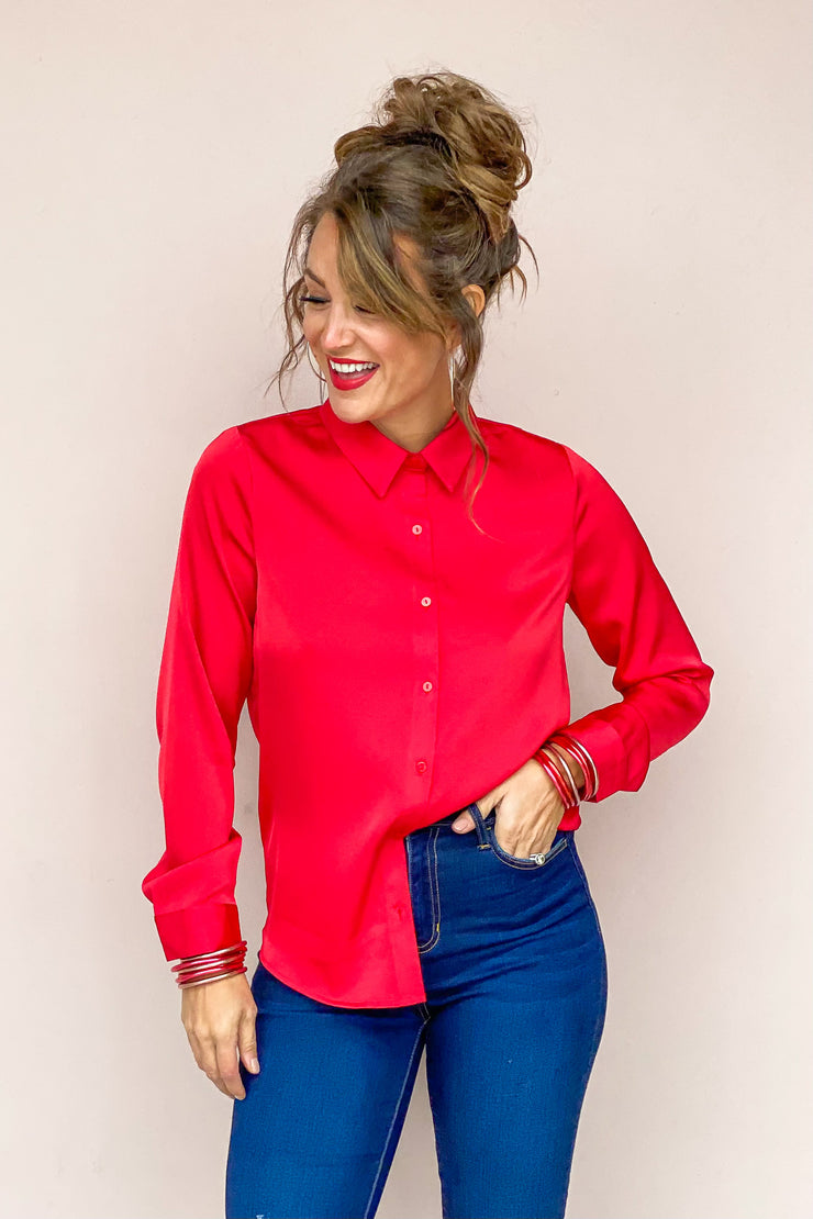 Be Fiercely You Button Down Blouse