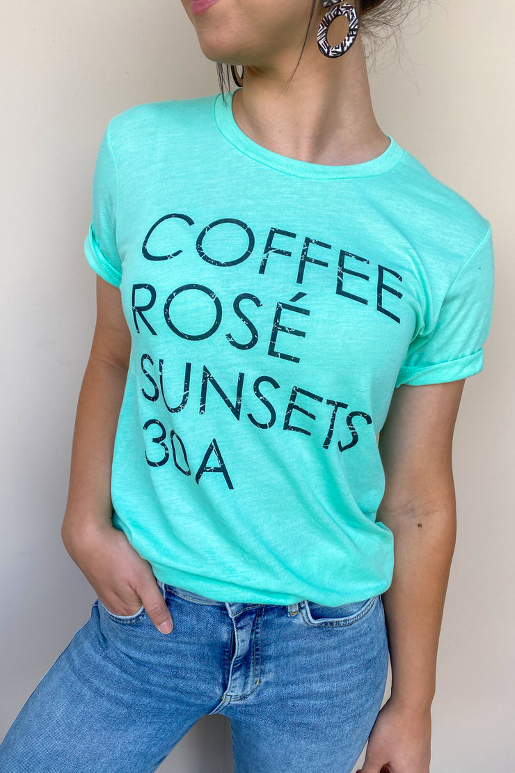 Coffee Rose' Sunsets Tee
