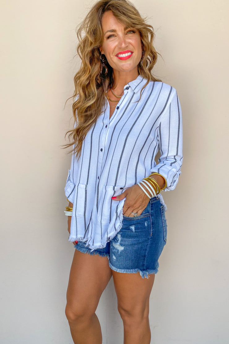 The Rosin Stripe Top - FINAL SALE