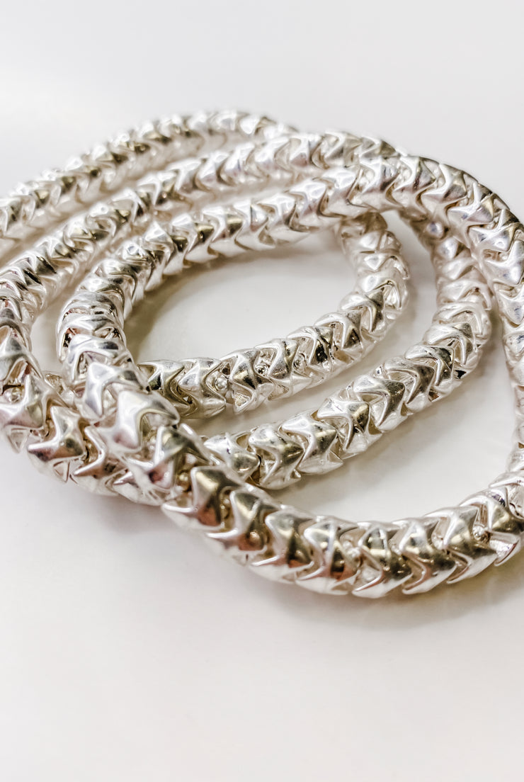 Kylie Chain Stretch Bracelets (Set Of 3)