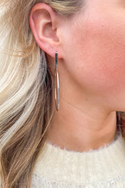 Beyond Bar Silver Earrings