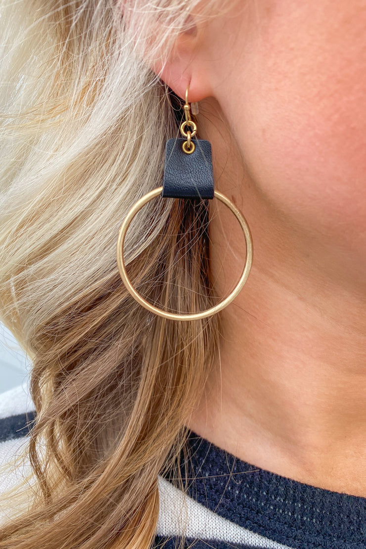 Second Wind Leather Earring