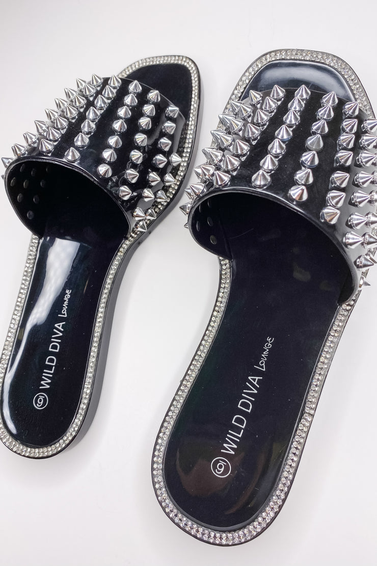 Jelly Edgy Spike Slide Sandal - FINAL SALE