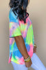 Keep The Vibe Tie-Dye Button Top