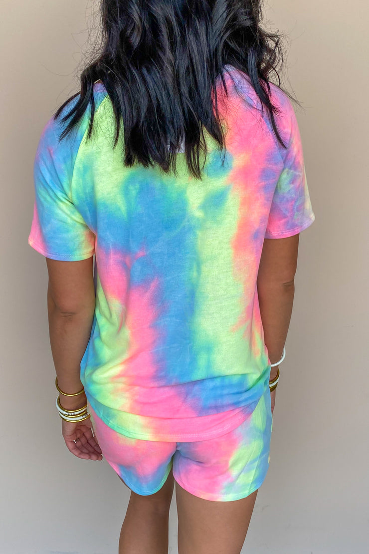 Electric Dreamer Tie Dye Terry Top - FINAL SALE