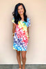 Retro Fantasy Tie Dye Dress