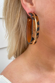 Crowd Pleaser Earrings - Leopard
