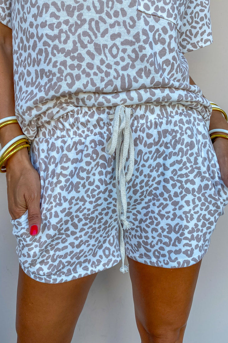Count On Comfort Leopard Shorts