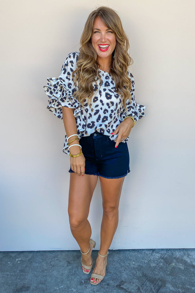 In Full Swing Leopard Top