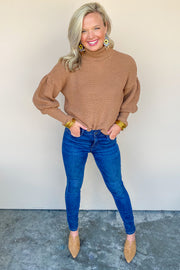 Concord Puff Sleeve Turtleneck Sweater - FINAL SALE