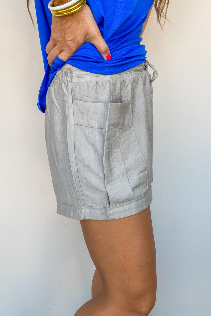Weekend Relaxed Slub Shorts - FINAL SALE