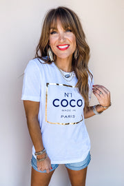 Number One Coco Graphic Tee - FINAL SALE