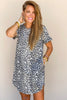One Look Leopard T-Shirt Dress