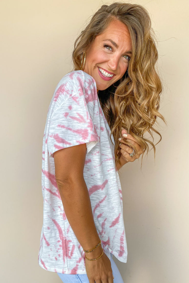 Fearless Tie Dye Short Sleeve Top - FINAL SALE