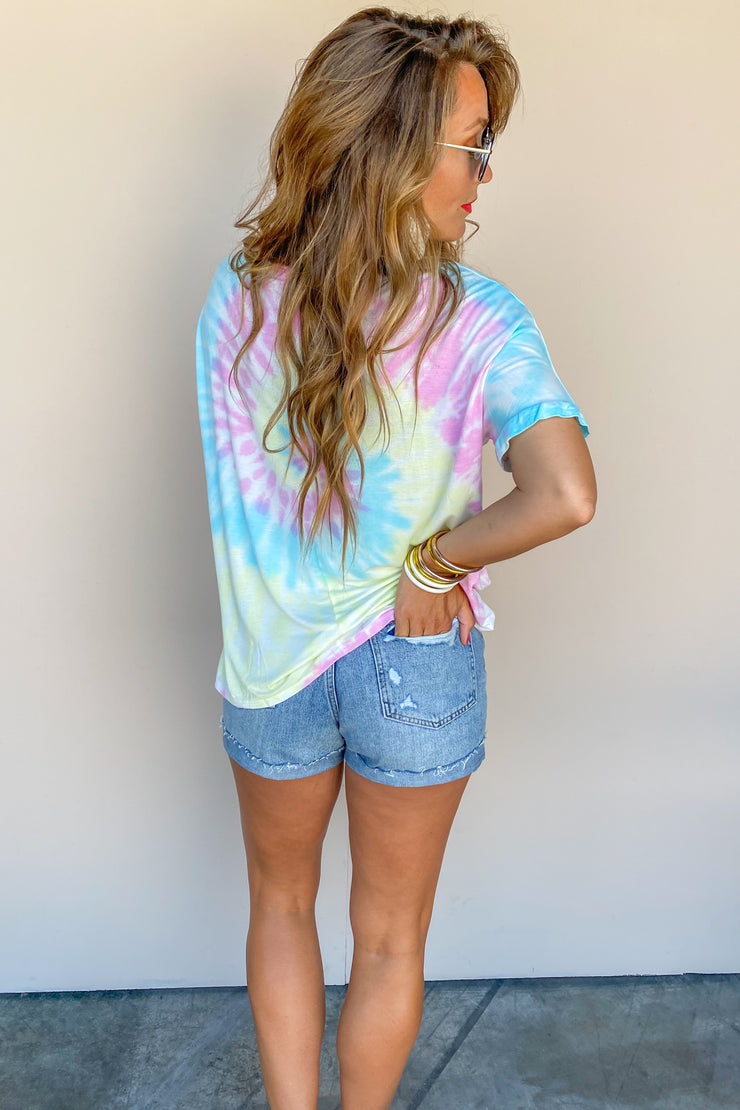 Cotton Candy Swirl Crew Top