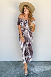 The Dusted Brown Romper