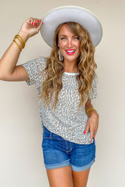 Roxanne Leopard Print Top - FINAL SALE