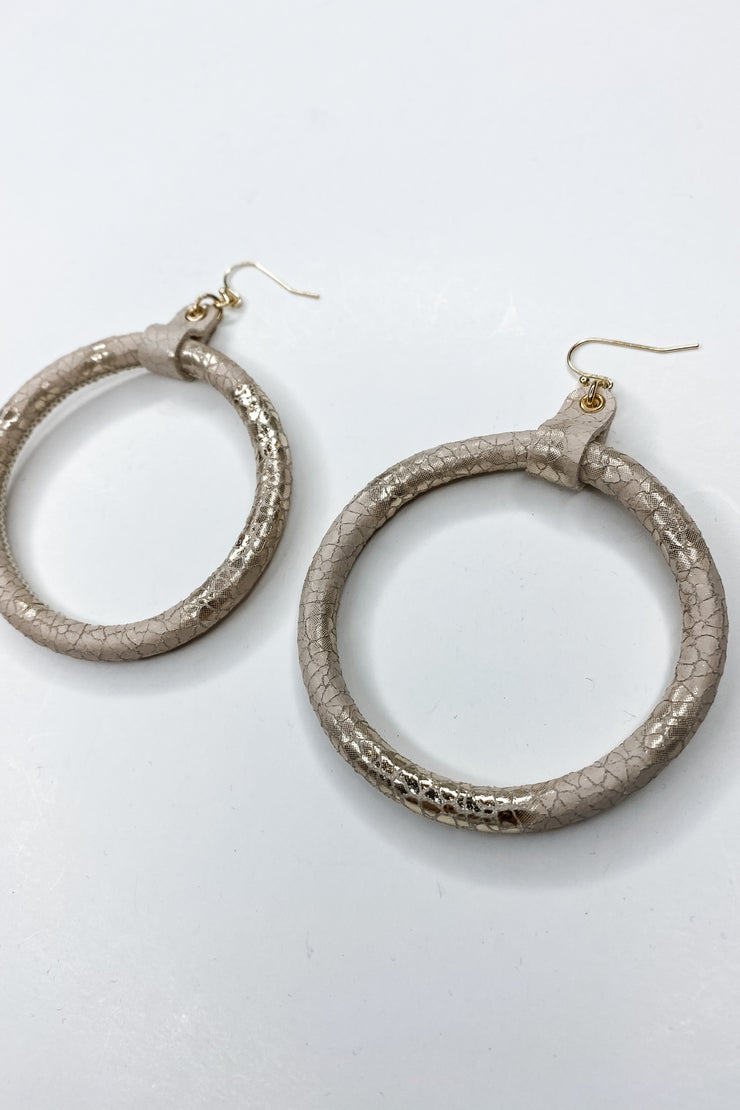 Roma Leather Hoops