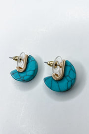 Mini Drops Of Style Turquoise Earrings - FINAL SALE