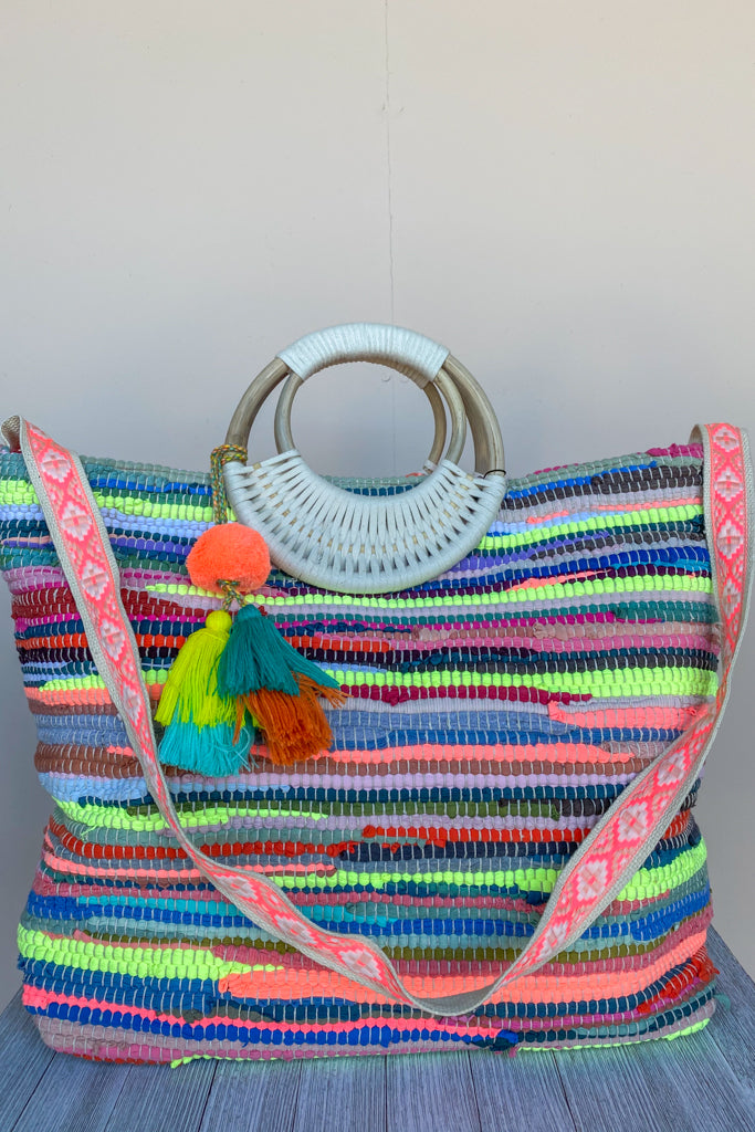 Hawaiin Punch Wicker Tote