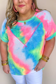 Peace Out Tie Dye Top
