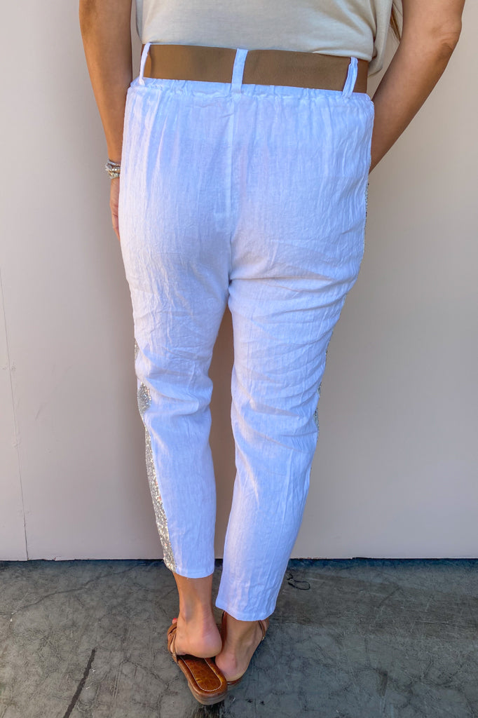 Luigi Sequin Stripe Pant
