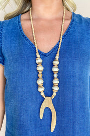 Rambunctious Wood Antler Necklace