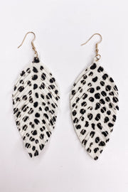 Light As A Feather Earring - Black & white