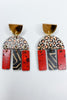 Agatha Earring - Leopard Red Black