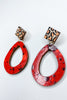 Miranda Earring - Leopard Red