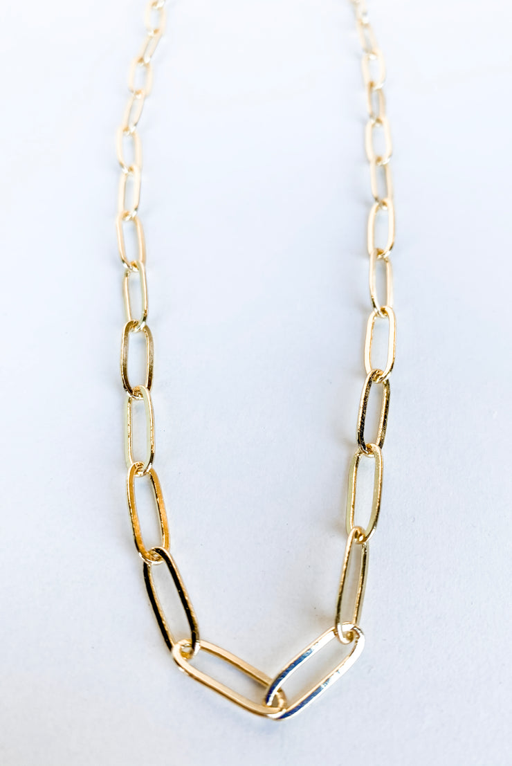 Single Moment Gold Chain Necklace
