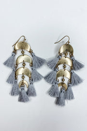Valentina Crescent Earrings - Gray
