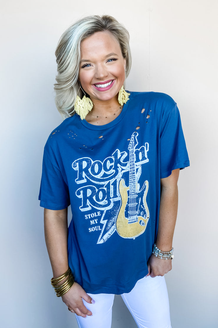 Rock n Roll Distressed Tee