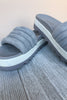Prato Platform Slide On - Grey