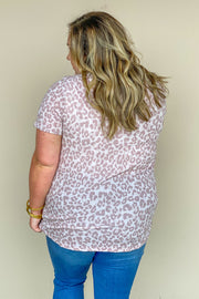 Madison Pink Leopard Top
