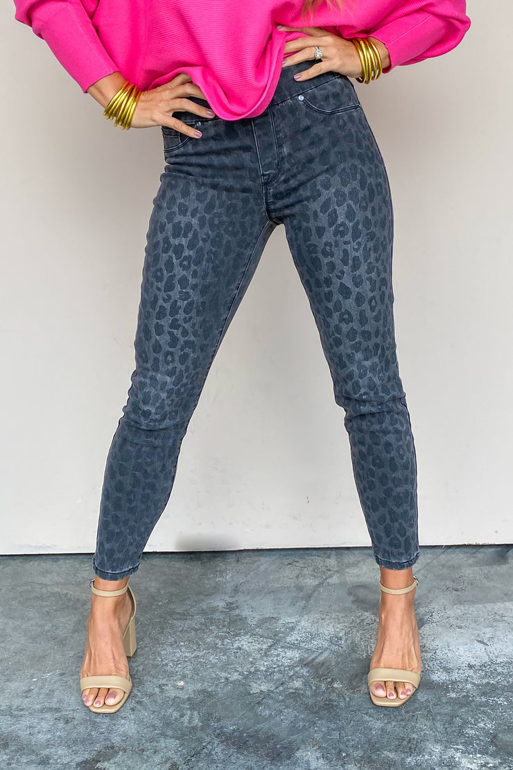 Audrey Animal Print Pull On Pant | Tribal - FINAL SALE
