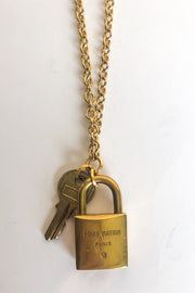 Kelly Vintage Repurposed LV Lock Necklace - FINAL SALE