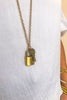 Kelly Vintage Repurposed LV Lock Necklace