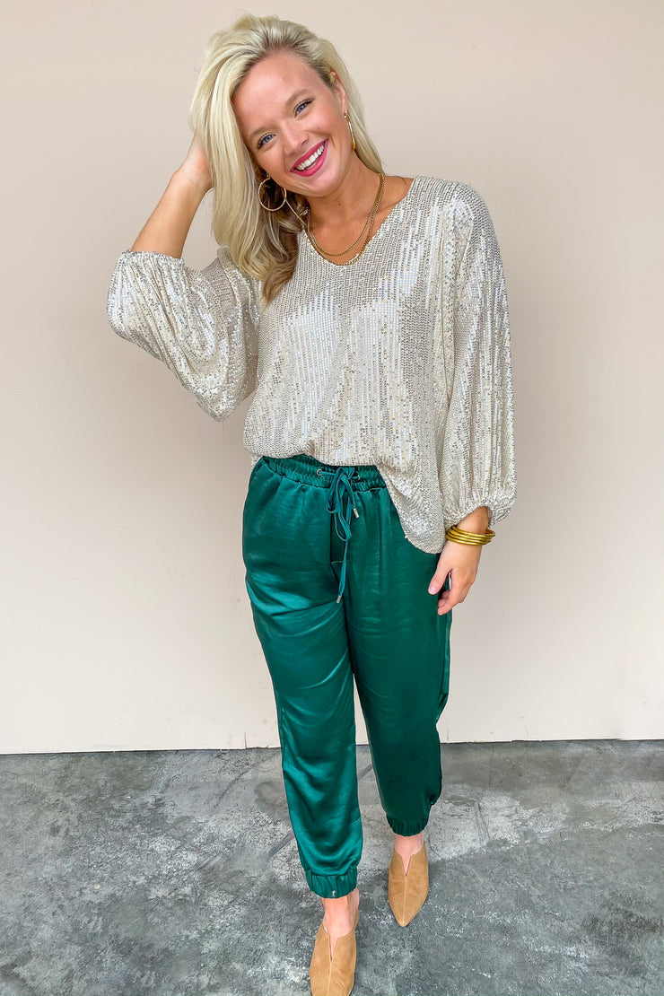 Unstoppable Sequin Top - FINAL SALE