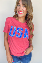 USA Cheetah Tee